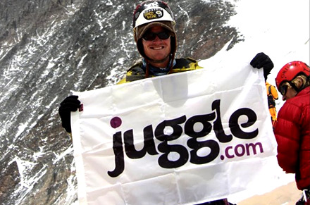 Juggle Sponsors Mt. Everest Climb