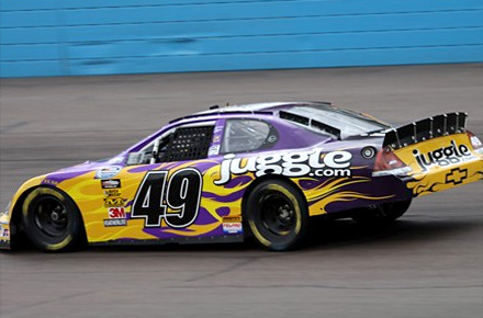 Mark green racing with Juggle sponsored NASCAR