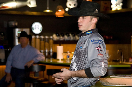 Professional bullrider Travis Sellers