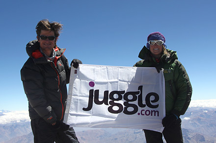 Juggle on Mount Aconcagua
